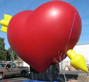 huge balloons - heart shape