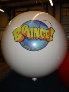 huge helium balloon with business logo